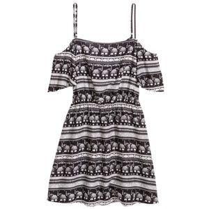 HM Coachella Off the Shoulder Elephant Dress